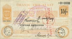 Südafrika / South Africa Orange Free State P.S687 15 Shillings 1900 (3)