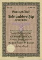 Steuergutschein 38 Reichsmark 1937 (1945) (1/1-)