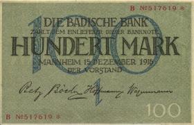 R-BAD 06: 100 Mark 1919 (2+)