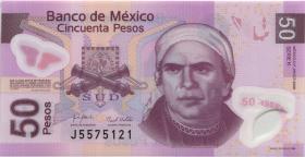 Mexiko / Mexico P. 123k 50 Pesos 28.10.2008 Polymer (1)