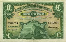 Gibraltar P.15c 1 Pound 1954 (3)
