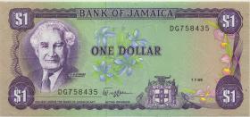 Jamaika / Jamaica P.68Ac 1 Dollar 1989 (1)