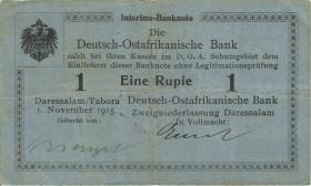 """R.914c Deutsch-Ostafrika 1 Rupie 1.11.1915 A (3) """"Menzel"""""""