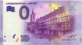 0 Euro Souvenir Schein Krämerbrücke Erfurt (1)
