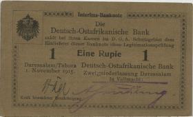 R.917c: Deutsch-Ostafrika 1 Rupie 1915 D (1/1-) D.O.A.B.