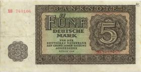 R.342c 5 DM 1948XB Ersatznote (3)