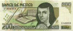 Mexiko / Mexico P.114 200 Pesos 2000 Gedenkbanknote (1)