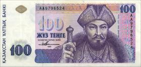 Kasachstan / Kazakhstan P.13 100 Tenge 1993 (1-)
