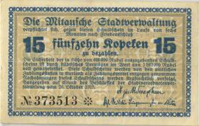 Lettland / Latvia LE 28a: 15 Kopeken 1915 Mitau (2+)