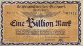 PS1379 Reichsbahn Stuttgart 1 Billion Mark 1923 (2)