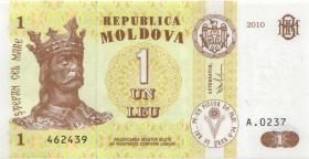 Moldawien / Moldova P.08h 1 Leu 2010 (1)