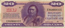 USA / United States P.M98 20 Dollars (1970) (3+)