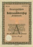 Steuergutschein 38 Reichsmark 1937 (1944) (1)