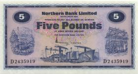 Nordirland / Northern Ireland P.188b 5 Pounds 1974 (1)