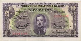 Uruguay P.37c 10 Pesos L. 1939 (2)