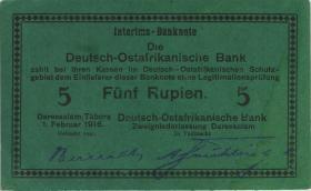 R.933m: Deutsch-Ostafrika 5 Rupien 1916 G (1-)