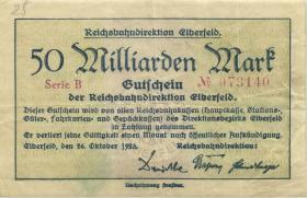 PS1193 Reichsbahn Elberfeld 50 Millionenn Mark 1923 (3)