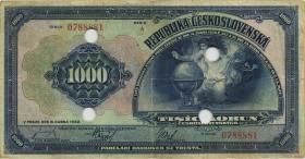 Tschechoslowakei / Czechoslovakia P.025s 1000 Kronen 1932 Specimen 1932 (1)