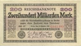 R.118g: 200 Milliarden Mark 1923 (3+)
