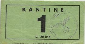 Drittes Reich Dienstelle Feldpost Kantinengeld (3)