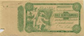 Uruguay - Tacuarembo 10 Centesimos 1872 (1-)