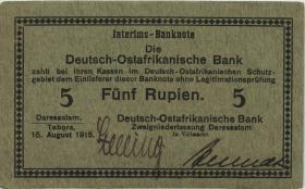 R.910a: Deutsch-Ostafrika 5 Rupien 1915 B (1/1-)