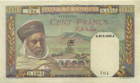 Algerien / Algeria P.088 100 Francs 1945 (2)
