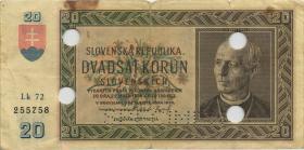 Slowakei / Slovakia P.05s 20 Kronen 1939 (4-) Specimen