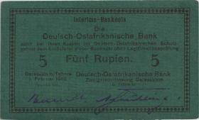 R.933k: Deutsch-Ostafrika 5 Rupien 1916 G (1/1-)