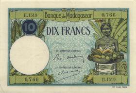Madagaskar P.36 10 Francs (ca. 1937-47) (3)