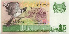 Singapur / Singapore P.10 5 Dollars (1976) (2)