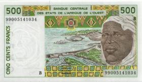 West Afrikanische Staaten / West African States P.210Bk 500 Francs 1999 (1) Benin