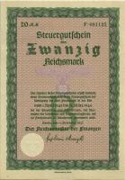 Steuergutschein 20 Reichsmark 1937 (1945) (1)