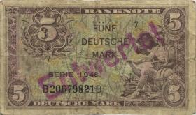 """R.236F 5 DM 1948 zeitgenössische Fälschung (4) """"Entwertet"""""""
