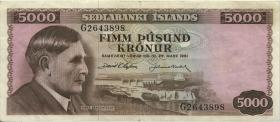 Island / Iceland P.47 5000 Kronen 1961 (3)