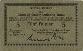 R.910c: Deutsch-Ostafrika 5 Rupien 1915 C (1/1-)