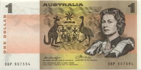 Australien / Australia P.42 1 Dollar (1976) DBP thick paper 2. issue (1)