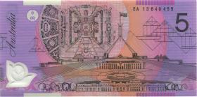 Australien / Australia P.57h 5 Dollars (20)13 EA 13 Polymer (1) last prefix