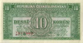 Tschechoslowakei / Czechoslovakia P.060a 10 Korun (1945) (2)