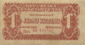 Tschechoslowakei / Czechoslovakia P.045a 10 Krone 1944 (3)