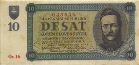 Slowakei / Slovakia P.06s 10 Kronen 1943 Specimen (2)