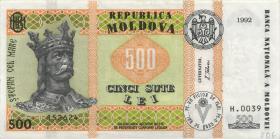 Moldawien / Moldova P.17 500 Lei 1992 (1999) (2)