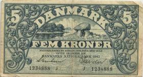 Dänemark / Denmark P.30h 5 Kroner 1942 J (3)