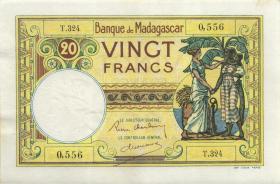 Madagaskar P.37 20 Francs (ca. 1937-47) (3)