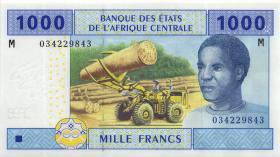 Zentral-Afrikanische-Staaten / Central African States P.307M 1000 Francs 2002 Zentralaf. Rep (1)