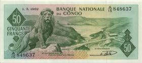Kongo / Congo P.005 50 Francs 1.3.1962 (1)