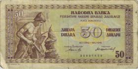 Jugoslawien / Yugoslavia P.064a 50 Dinara 1946 (4)