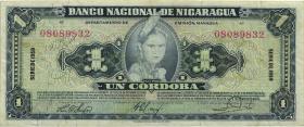 Nicaragua P.099c 1 Cordoba 1959 (3)