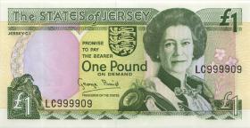 Jersey P.20 1 Pound (1993) LC 999909 (1)