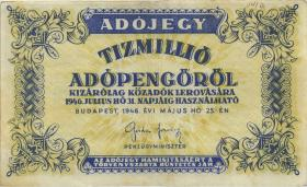 Ungarn / Hungary P.141a 10.000.000 Adopengö 1946 (2)